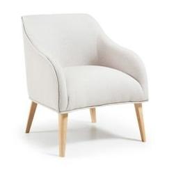 Tapicerowany fotel lobby beżowy