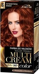 Joanna multi cream color, farba do włosów, 44 intensywna miedź