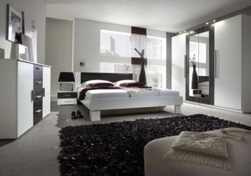 Zestaw do sypialni vera w kolorze białyczarny orzech