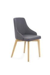 Krzesło bonita ciemny grafit na dąb miodowych nóżkach