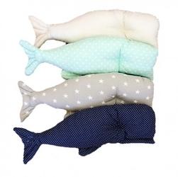 Poduszka wieloryb miętowy szyk duża