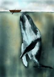 Wielorybek - plakat wymiar do wyboru: 21x29,7 cm