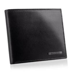 Stylowy męski portfel skórzany premier bpm-vtc-66 czarny