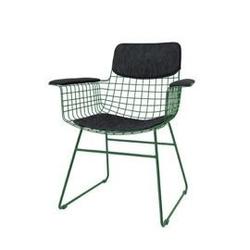 Hk living :: zestaw czarnych podkładek do krzesła wire