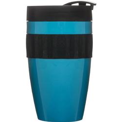 Kubek termiczny z silikonową opaską To Go Cafe Sagaform turkusowo-czarny SF-5017156