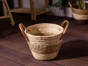 Koszyk  osłona na doniczkę słomkowa pleciona altom design boho 17 cm