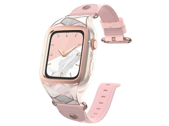 Etui pasek supcase cosmo do apple watch 4 44mm marble pink