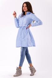 Płaszcz- błękitny 46034-2