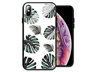 Etui Alogy Glass Armor Case do Apple iPhone XS Max Liście + Szkło - Liście