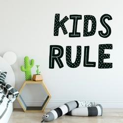Naklejka na ścianę - kids rule , wymiary naklejki - szer. 75cm x wys. 60cm