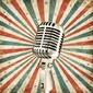 Fototapeta vintage mikrofon