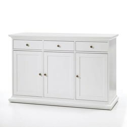 Romantyczna komoda paris 3+3 biała