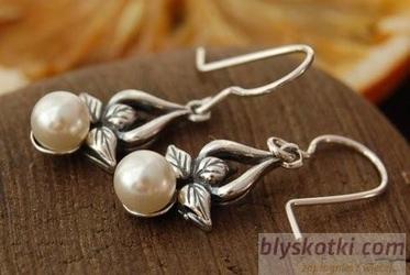 Candia - srebrne kolczyki z perłami
