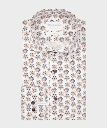 Biała koszula michaelis w kwiaty 43