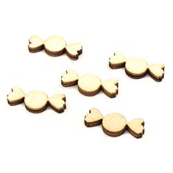 Drewniane scrapki 5 szt - CUKIEREK - CUK