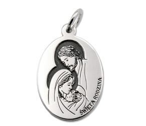 Medalik srebrny święta rodzina z nazaretu med-sw-rodz-01