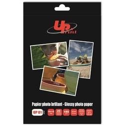 UPrint Glossy photopaper, foto papier, połysk, biały, 10x15cm, 4x6quot, 180 gm2, 20 szt., atrament