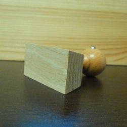 Drewniany uchwyt do stempla - prostokąt