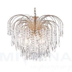 Waterfall lampa wisząca 5 złoty kryształ
