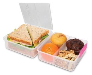Pudełko śniadaniowe lunch cube to go 1,4l różowe