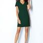 Sukienka mini zielona trapezowa
