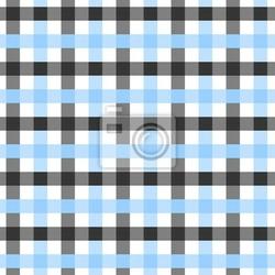 Fototapeta niebieski, biały i czarny plaid background fabric