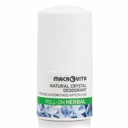 Macrovita dezodorant roll-on z naturalnym kryształem herbal 50ml - herbal