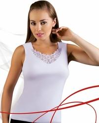 Emili Berta plus biały koszulka