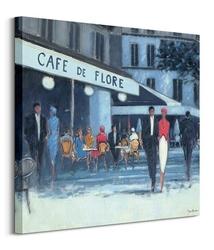 Café de flore, paris - obraz na płótnie