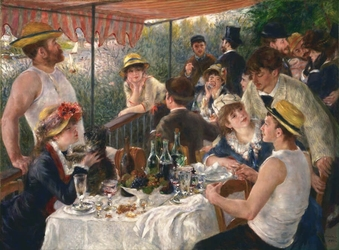 Reprodukcja luncheon of the boating party, renoir auguste