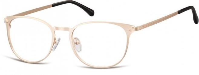 Oprawki damskie kocie oczy stalowe sunoptic 992h złote