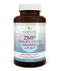 ZMP chelaty CYNKU i MAGNEZU + P-5-P x 120 kapsułek