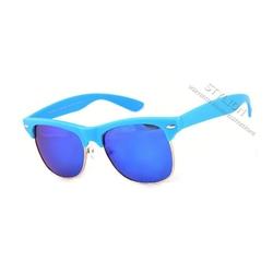 Okulary półramki mp-744a polaryzacyjne niebieskie
