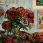 Still life with peonies, paul gauguin - plakat wymiar do wyboru: 70x50 cm