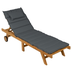 Składany leżak ogrodowy divero składany z drewna tekowego, edycja antracytowa