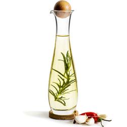 Karafka na oliwę lub ocet z dębowym korkiem i podstawką Sagaform Nature SF-5017734