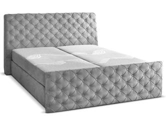 Eleganckie łóżko tapicerowane do sypialni donato z pojemnikiem na pościel