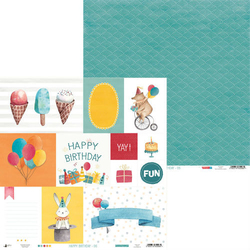 Papier do scrapbookingu Happy Birthday 30,5x30,5 cm - 06 - 06