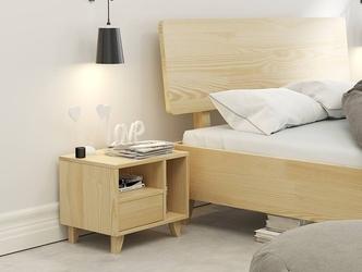 Łóżko drewniane sosnowe visby viveca  kolor sosna naturalna