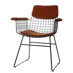 Hk living :: zestaw brązowych podkładek do krzesła wire