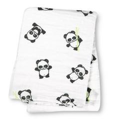 Kocyk - otulacz muślinowy lulujo 120x120 panda