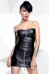 Komplet sukienka + stringi greta czarny m   100 dyskrecji   bezpieczne zakupy