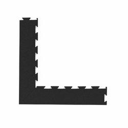 Komplet dwóch narożników profesjonalnej podłogi pod wolne ciężary premium puzzle czarny - marbo sport - 30-50 mm