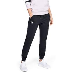 Spodnie dresowe damskie under armour rival fleece sportstyle graphic pant - czarny