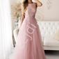 Pastelowo różowa sukienka na wesele z cekinami ,  2240