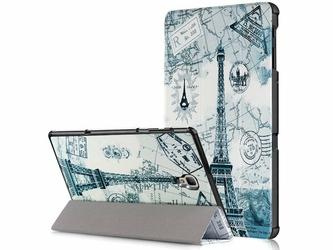 Etui Alogy Book Cover do Galaxy Tab A 10.5 T590 T595 Wieża Eiffla + Szkło - Wieża Eiffla