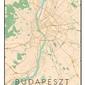 Budapeszt mapa kolorowa - plakat wymiar do wyboru: 42x59,4 cm
