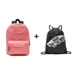 Plecak VANS Realm Backpack Desert Rose - VN0A3UI6YDZ + Worek szkolny