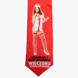 Krawat na Kawalerski - Premium – Pielęgniarka – Czerwony
