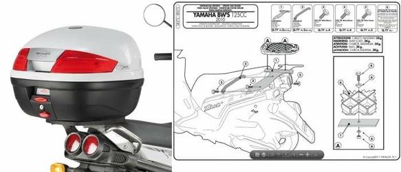 Kappa KR372 Stelaż Kufra Centralnego Yamaha Bw